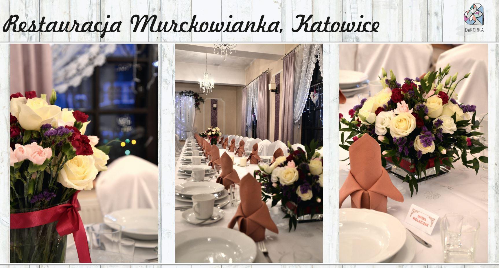 Dekoracja stołów w restauracji Murckowianka