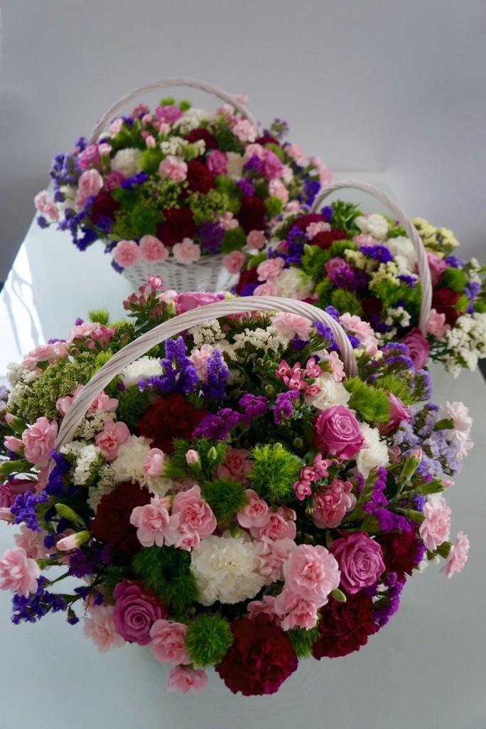 kosze kwiatów dla rodziców