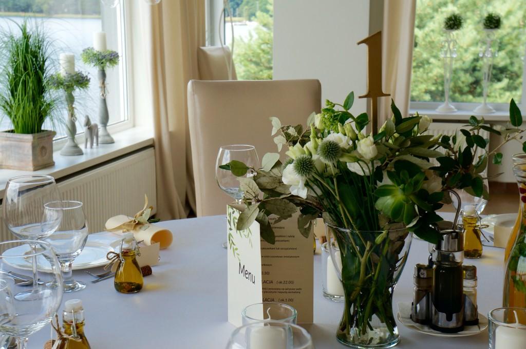 oliwkowe wesele dekorka katowice