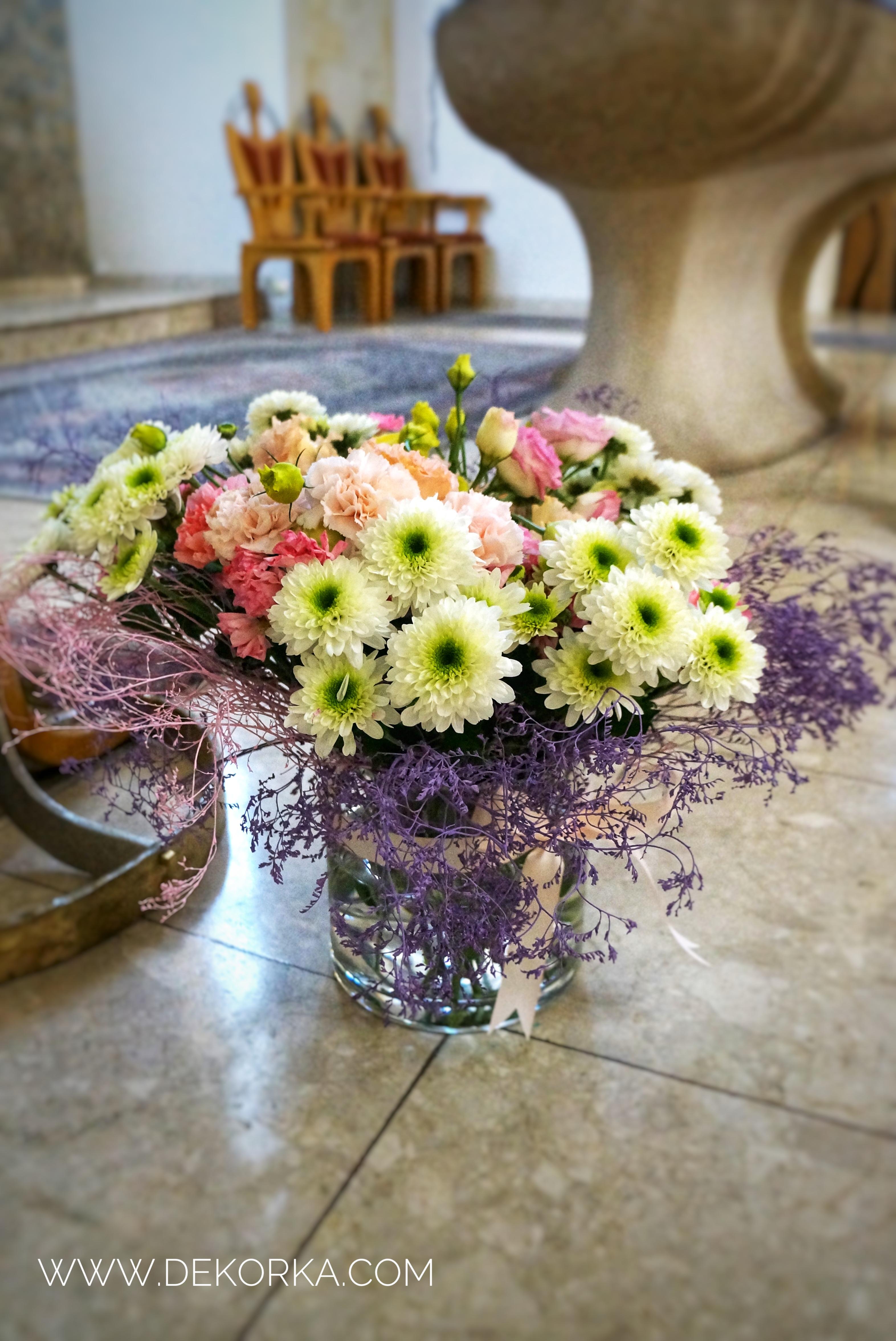 minimalistyczne wesele dekoracja kościoła katowice