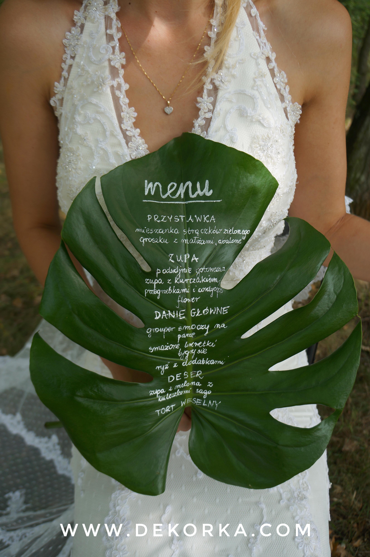 dekorka katowice tychy styl tropikalny wesele