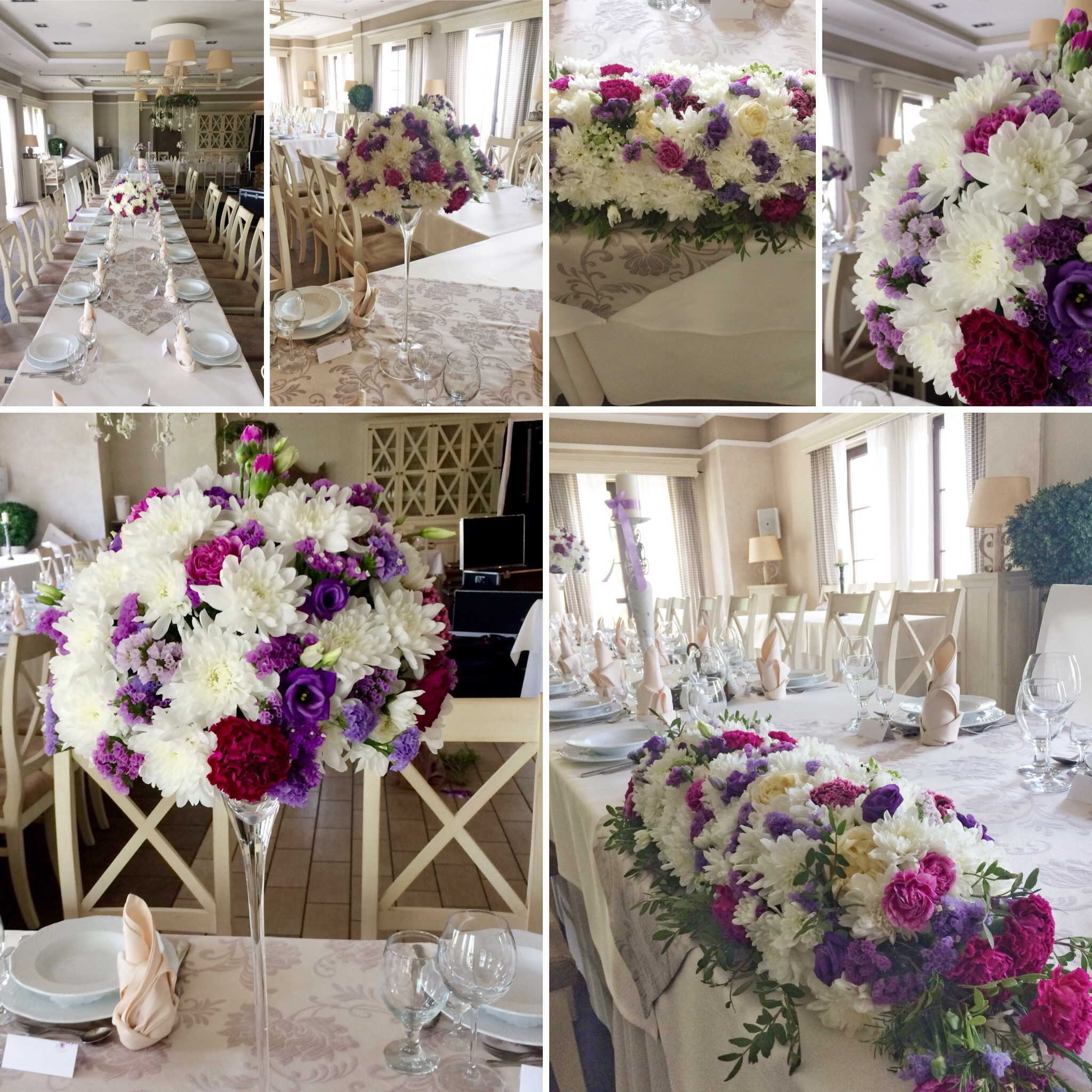 dekorkakatowice dekoracje wesele fioletowe-