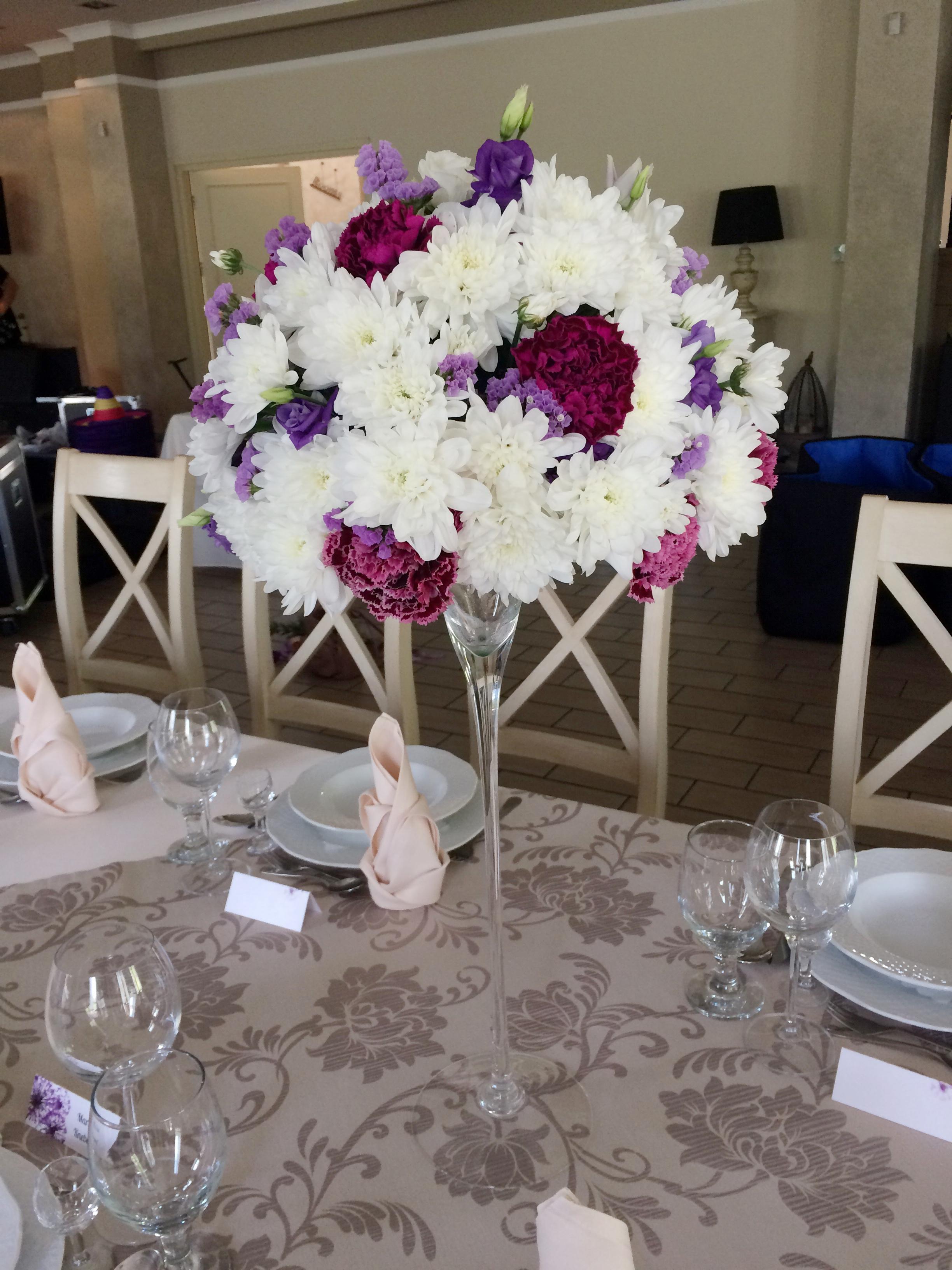 wesele biało fioletowe