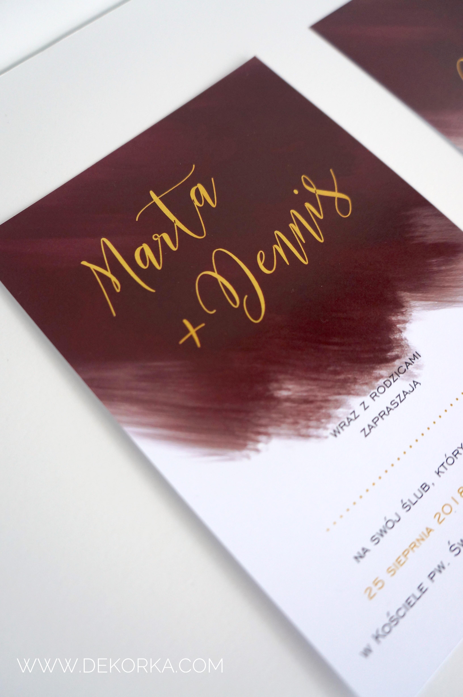 dekorka.com oprawa graficzna zaproszenia ślubne