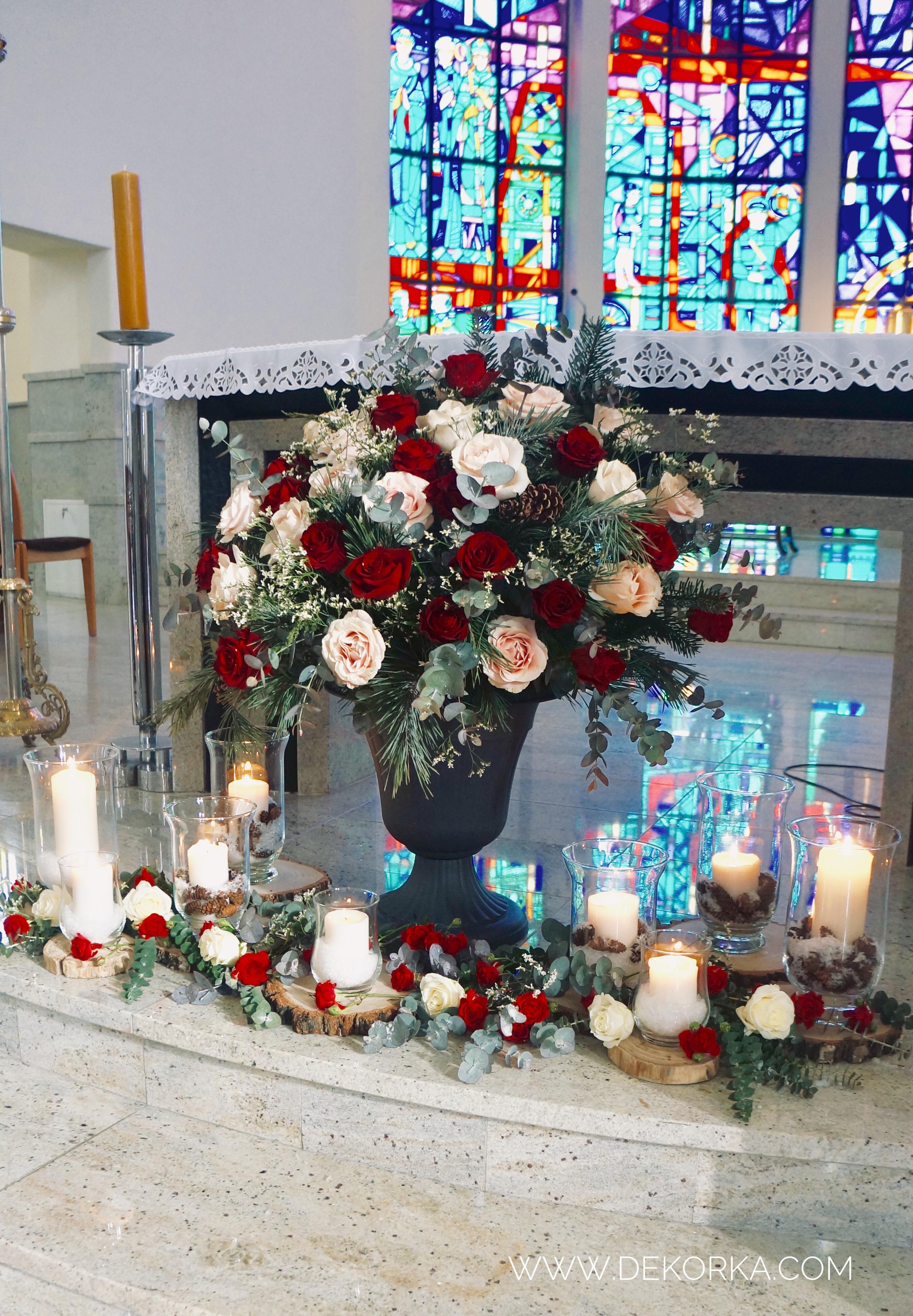 dekorka wystrók kościoła dekoracje kościoł murcki