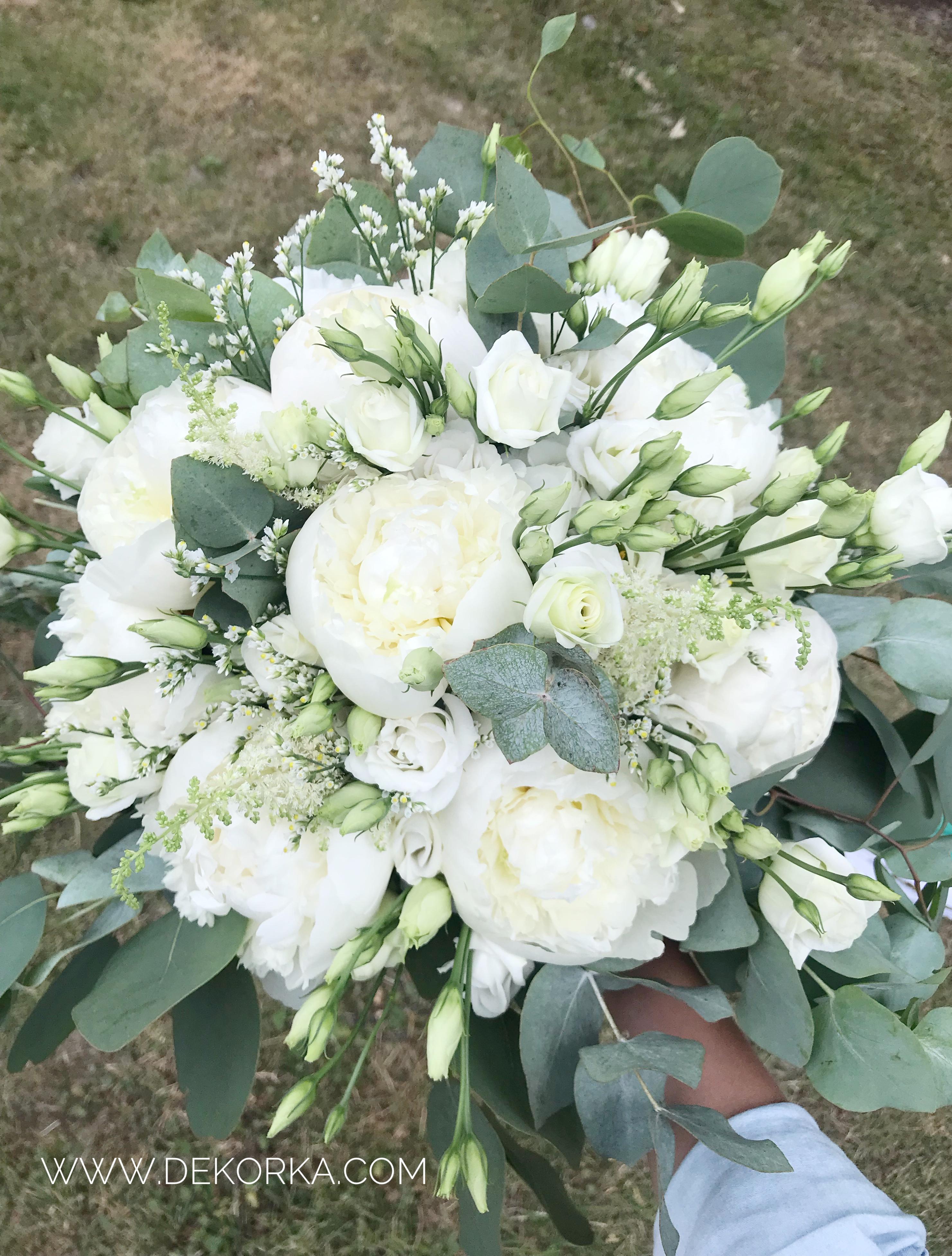 bukiet ślubny dekorka